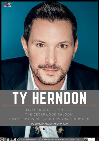 August 17 – Special Music Event –Ty Herndon